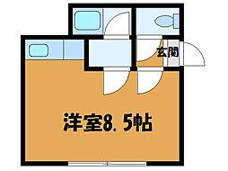 北海道函館市港町1丁目の賃貸アパートの間取り
