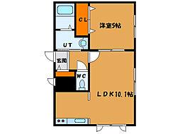 北海道函館市松陰町の賃貸マンションの間取り