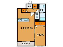 北海道函館市田家町の賃貸マンションの間取り