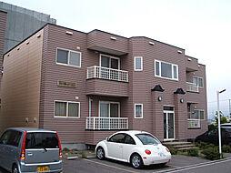 北海道北斗市七重浜4丁目の賃貸アパートの外観