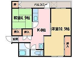 宏栄マンション[1階]の間取り