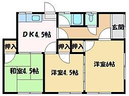 [一戸建] 愛媛県新居浜市船木 の賃貸【/】の間取り