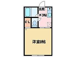 福田ハイツ[1階]の間取り