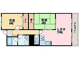 ベルトピア新居浜[2035号室]の間取り