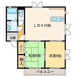 グランメゾントレビ[3階]の間取り