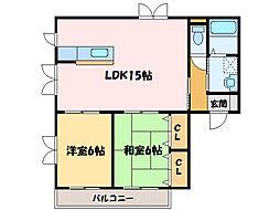 グランメゾントレビ[2階]の間取り