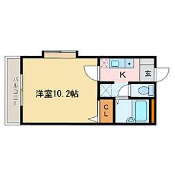 フォブール松本[2階]の間取り