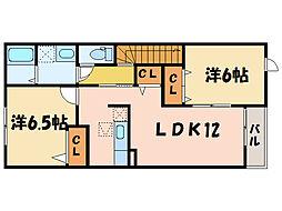 シーザリオ[2階]の間取り