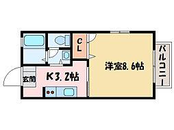 シャーメゾン八雲[2階]の間取り
