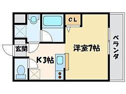 コンフォートメゾンNAGI[2階]の間取り