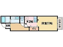 ソレイユ・アミュー北館[1階]の間取り