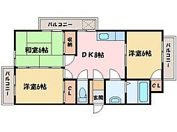 パソナ VII[3階]の間取り