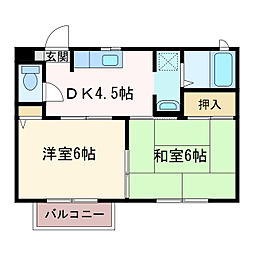 フローラル久保田[2階]の間取り