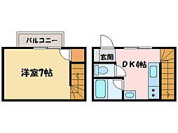久米ハイツ[1階]の間取り