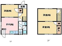 [一戸建] 愛媛県新居浜市港町 の賃貸【/】の間取り