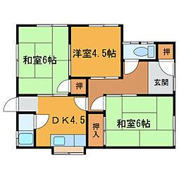 [一戸建] 愛媛県新居浜市庄内町2丁目 の賃貸【/】の間取り