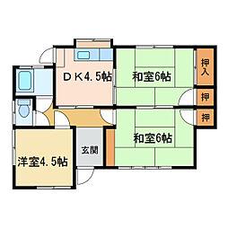 [一戸建] 愛媛県新居浜市庄内町5丁目 の賃貸【/】の間取り