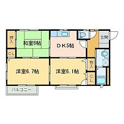 シャーメゾン長崎[1階]の間取り