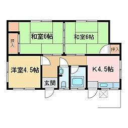 [一戸建] 愛媛県新居浜市滝の宮町 の賃貸【/】の間取り
