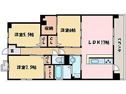 田所ヒルズ[8階]の間取り