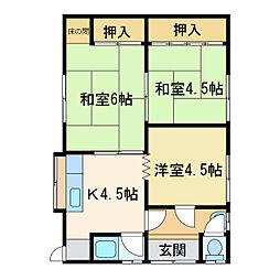 [一戸建] 愛媛県新居浜市江口町 の賃貸【/】の間取り