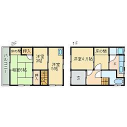 [一戸建] 愛媛県新居浜市西原町2丁目 の賃貸【/】の間取り