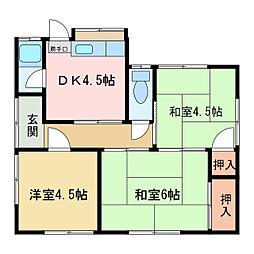 [一戸建] 愛媛県新居浜市沢津町2丁目 の賃貸【/】の間取り
