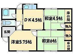 [一戸建] 愛媛県新居浜市政枝町2丁目 の賃貸【/】の間取り