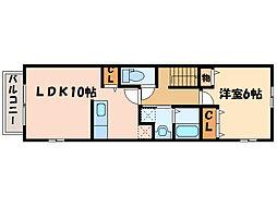 中村ハイツ ミレ[2階]の間取り