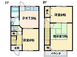 [一戸建] 愛媛県新居浜市高津町 の賃貸【/】の間取り