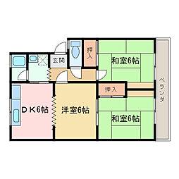 八雲マンション[1階]の間取り