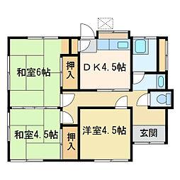 [一戸建] 愛媛県新居浜市南小松原町 の賃貸【/】の間取り