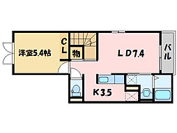 サンリットKII[2階]の間取り