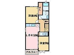 サン・アベニュー[2階]の間取り