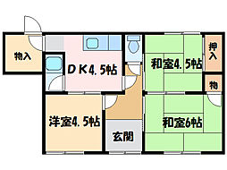 [一戸建] 愛媛県新居浜市東雲町3丁目 の賃貸【/】の間取り