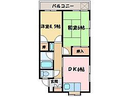 矢野ハイツ[2階]の間取り