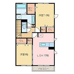 リッツハウス萩生[2階]の間取り