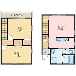 アーバンステージ高木[1階]の間取り