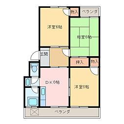まつきマンション[406号室]の間取り
