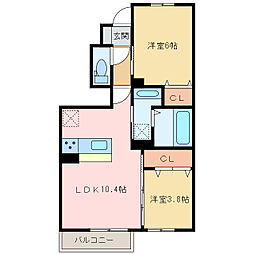 (仮)D-room上泉[1階]の間取り