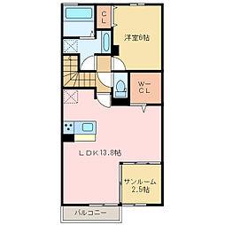 (仮)D-room上泉[2階]の間取り