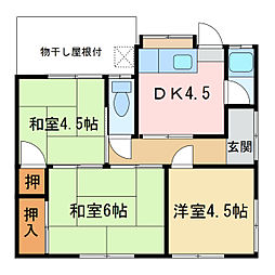 [一戸建] 愛媛県新居浜市新須賀町2丁目 の賃貸【/】の間取り