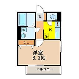 滋賀県大津市瀬田3丁目の賃貸アパートの間取り