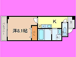 滋賀県大津市馬場1丁目の賃貸マンションの間取り