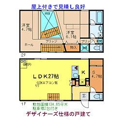 [一戸建] 滋賀県草津市西矢倉3丁目 の賃貸【/】の間取り