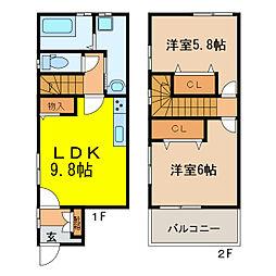 [一戸建] 滋賀県大津市本宮2丁目 の賃貸【/】の間取り