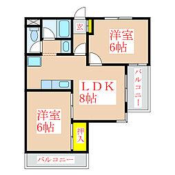 武レディースマンション[3階]の間取り