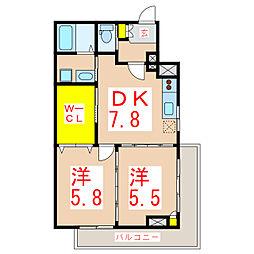 上武ビル[3階]の間取り