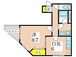 アベニールロミオ[4階]の間取り
