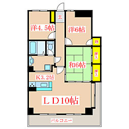 トーカンマンションナポリ通り[5階]の間取り